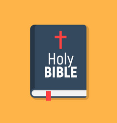holy bible logo icon church bible isolated vector image