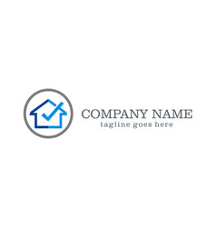 home sold company logo vector image
