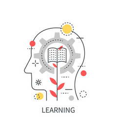 Learning mind education concept isolated on the vector