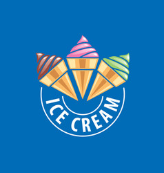 Logo ice cream vector