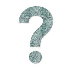 mark question from letters faq button asking vector image