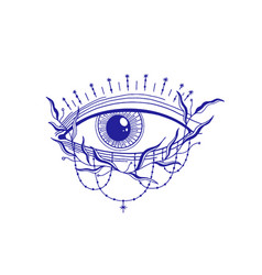 Mystic eye esoteric signmagic life vintage old vector