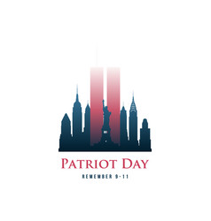 patriot day card with twin towers vector image