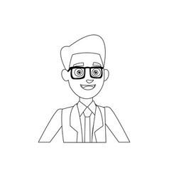 Politician man leadership character suit vector