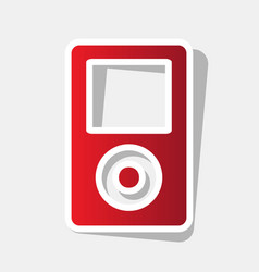 Portable music device new year reddish vector