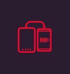 power bank charging smartphone vector image