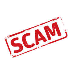 Red stamp and text scam vector