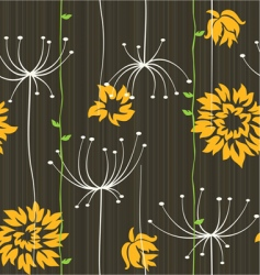 Retro floral seamless background with roses or ast vector