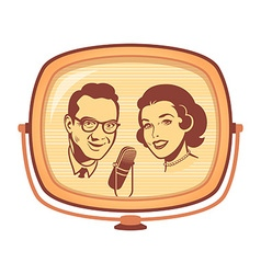 Retro tv talk show vector