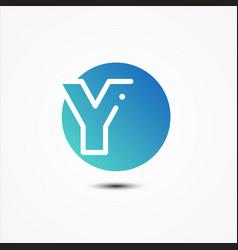 round symbol letter y design minimalist vector image