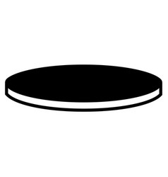 round table icon simple style vector image