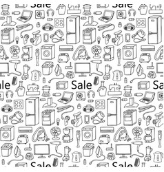 sale household appliances seamless pattern vector image