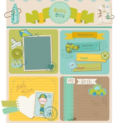 Scrapbook design elements - baboy cute set vector