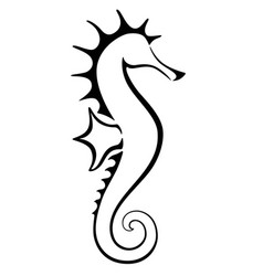seahorse stylized sign for logo vector image