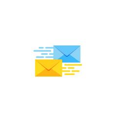 service mail logo icon design vector image