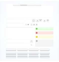 set web design elements vector image