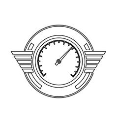 silhouette speedometer prize in monochrome vector image