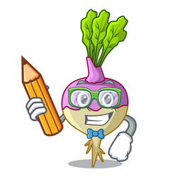 Student with book character healthy organic vector