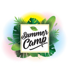 Summer camp background for posters and vector