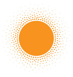sun icon halftone sunny orange circle vector image