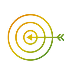 target arrow marketing business strategy vector image