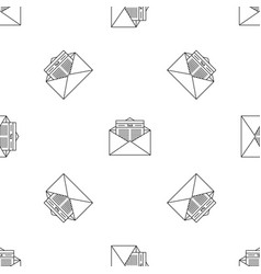 tax mail pattern seamless vector image