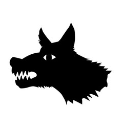 terrible wolf vector image