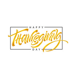 thanksgiving typography for greeting cards vector image