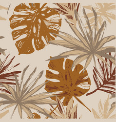 tropical leaf silhouette elements background palm vector image