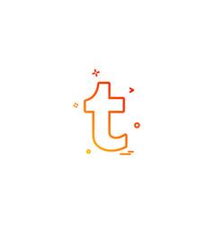 tumblr icon design vector image