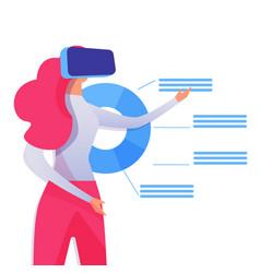 Virtual reality interface flat vector