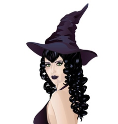 Witch with Black Hair2 vector