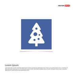 x-mas tree icon - blue photo frame vector image