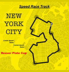 yellow ny map race track vector image