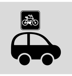 bicycle route sign graphic vector image