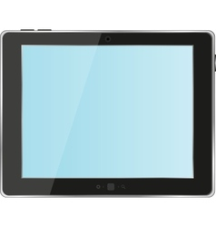 Black abstract tablet pc on white background vector image vector image