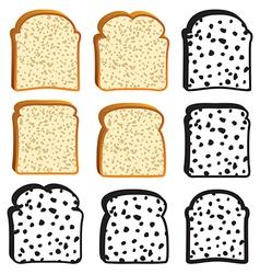 bread slices vector image vector image