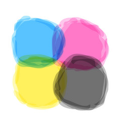 cmyk splash stains vector image