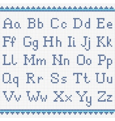 Embroidering alphabet Uppercase and lowercase vector image