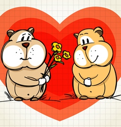 Hamster greets his girlfriend vector image