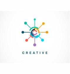 Logo - creative technology tech icon and symbol vector