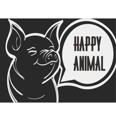 picture of pig Hand drawn vector image vector image