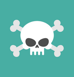 skull and crossbones isolated pirate danger sign vector image vector image