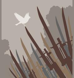 bayonet bird vector image vector image