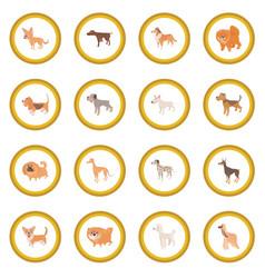 dog icon circle vector image
