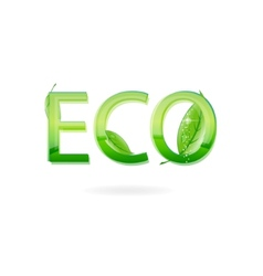 nature eco sign green color vector image vector image