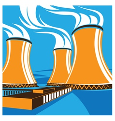 nuclear power station vector image vector image