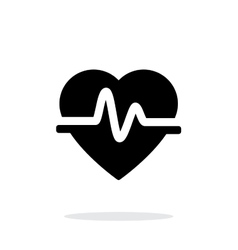Pulse heart icon on white background vector image vector image