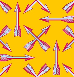 Seamless pattern with vintage arrows vector image vector image