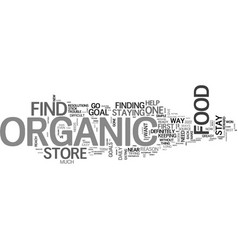 what you should know about organic food store vector image vector image